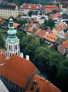 Fra slottstårnet, St. Jošt church