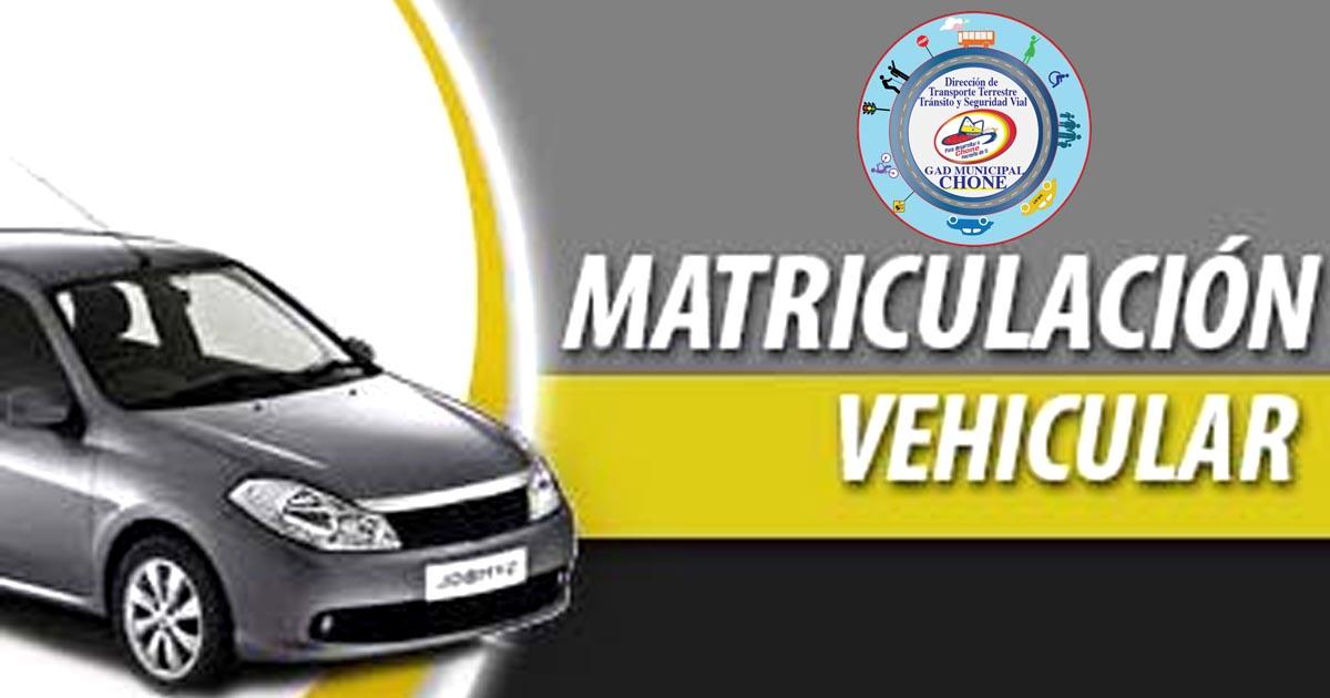 Matriculación vehicular, hasta el 29 de diciembre se podrá pagar