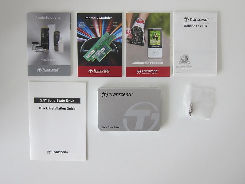 Transcend TLC 480GB SSD - Box Contents