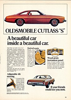 "1973 Oldsmobile Cutlass ""S"" (Canadian Ad)"