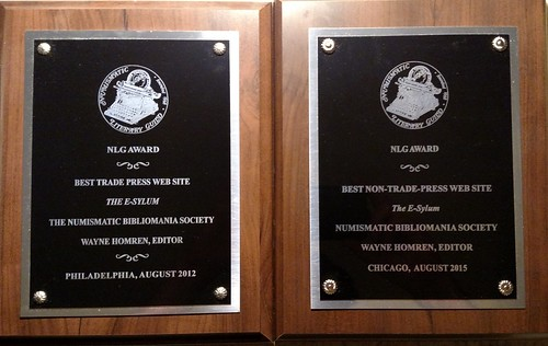 2012 and 2015 E-Sylum Awards