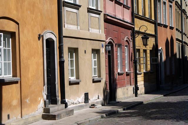 Ruelles colorées de la Vieille Ville de Varsovie (Stare miasto).