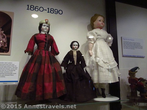 Some of the dolls that are still on display at the Strong National Museum of Play, Rochester, New York