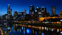 Melbourne and the Yarra River.