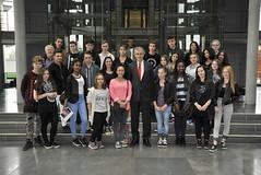 Schülerinnen und Schüler der Realschule Vohwinkel am 9. September 2015 in Berlin