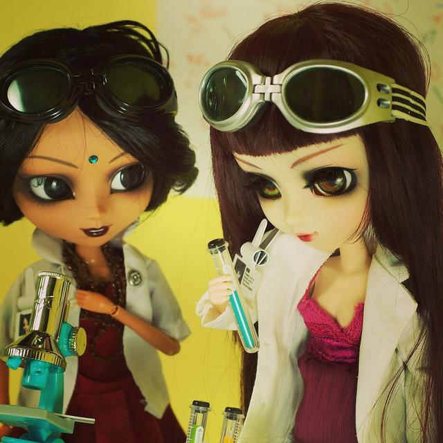 Suri and Neela at work