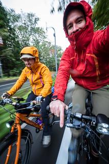A moving bike selfie on the Chtiose Cycle path to Lake Shikotsu, Hokkaido, Japan
