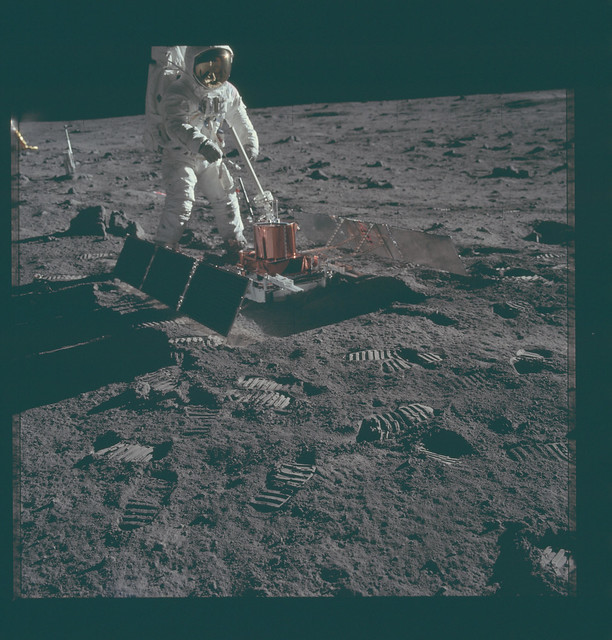 Apollo 11 Hasselblad image from film magazine 40/S - EVA