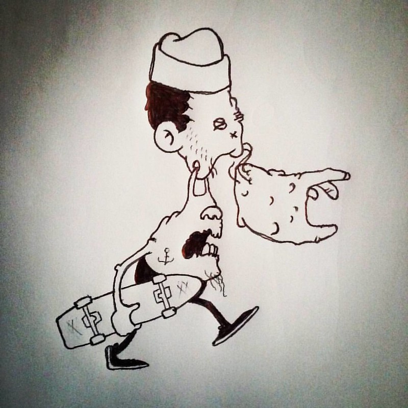 #ballpointpen #ballpointdrawing #drawing, #linedrawing #linework #tattoo #pencil #pencildrawing #drawnatwork #boredatwork #paper #sketch #sketchbook #dailysketch #doodle #dailydoodle #graffiti #roughdrawing #ink #cartoon #cartooning #comics #comicpanel #h