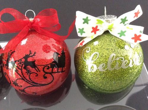 Glitter Xmas Ornaments