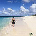 Audrey Takes Walk Along Shoal Bay - Anguilla