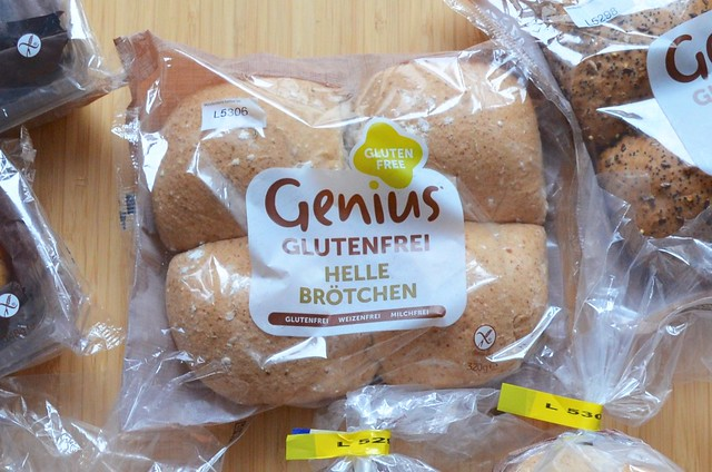 Genius Gluten Free bread in Germany review Helle Broetchen in package