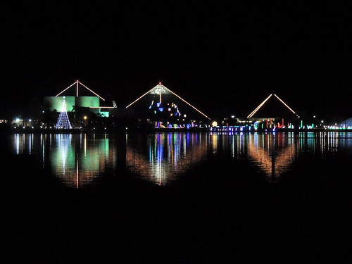 Reflective Moody Gardens Festival of Lights