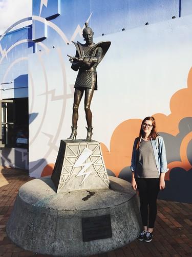 Riff Raff Statue in Hamilton