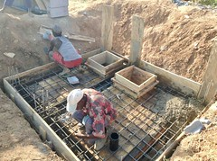 Building a septic and suck away system in Ushafa Village, FCT, Abuja, Nigeria. #JujuFilms