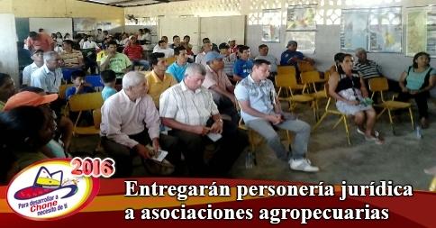 Entregarán personería jurídica a asociaciones agropecuarias