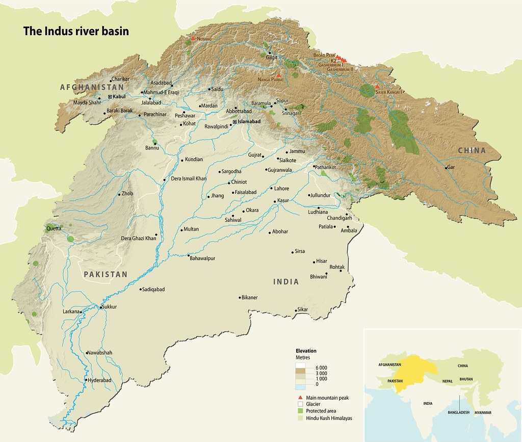 The Indus river basin | GRID-Arendal on himalayas on map, persian gulf on map, indian ocean on map, ganges river on map, bangladesh on map, yangzte river on map, japan on map, krishna river on map, great indian desert on map, lena river on map, jordan river on map, deccan plateau on map, himalayan mountains on map, eastern ghats on map, gobi desert on map, kashmir on map, gulf of khambhat on map, irrawaddy river on map, aral sea on map, yellow river on map,