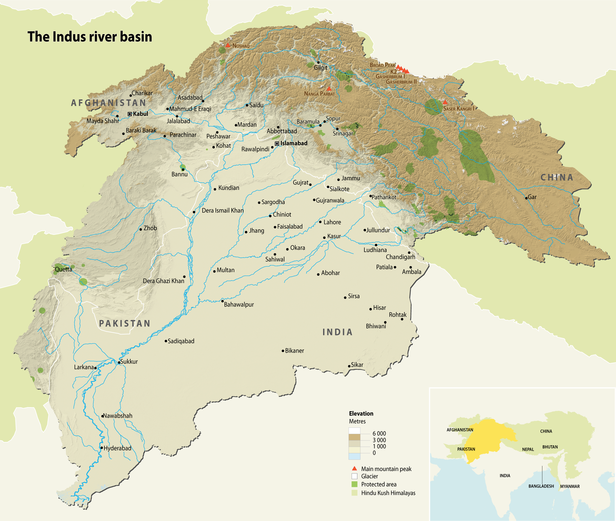 The Indus river basin | GRID-Arendal