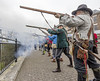 Musket fire Battle of Coleford commemoration 2017