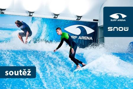 Jen v Surf Areně si můžete v ČR užít indoor surfing na umělé vlně! A tři z vás získali balíček složený z hodnotných cen.
