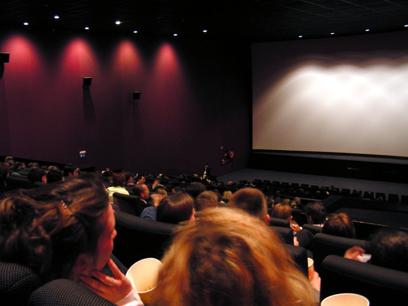 People sitting in a cinema
