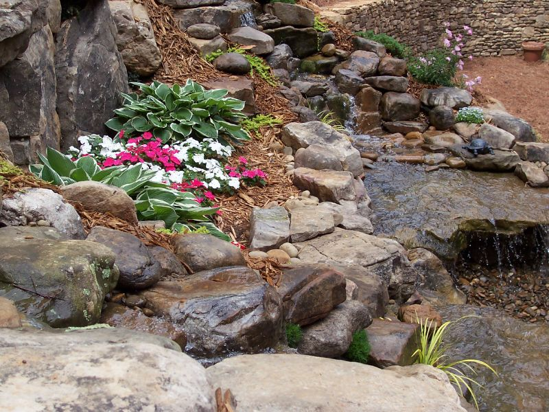 Christman Landscaping Hardscapes Pondless Water Features