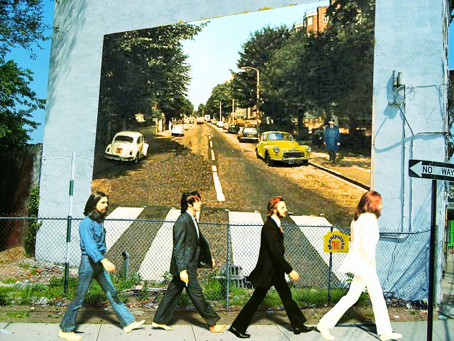 Wall abbey road mural flickr photo sharing for Abbey road wall mural