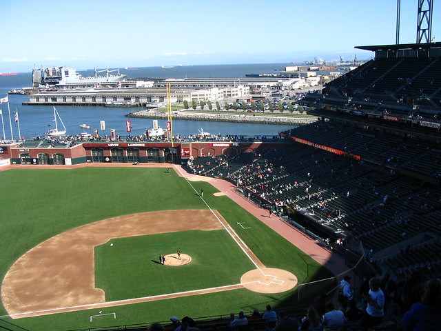 San Francisco Giants And What a Stadium! AT & T Park in San Francisco, California