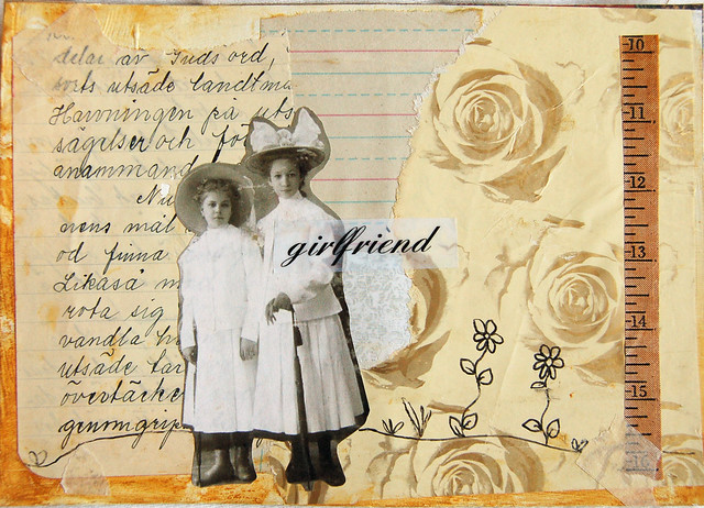 Personal Postcards for a girlfriend, collage postcard by iHanna #vintage