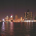 Detroit Skyline at night from Windsor