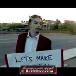 "Holding up a ""Let's Make A Deal"" sign on a corner in Phoenix for Halloween, 200"