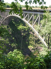 suspension bridge(0.0), garden(0.0), canopy walkway(0.0), rope bridge(0.0), rolling stock(0.0), viaduct(0.0), devil's bridge(1.0), arch(1.0), rainforest(1.0), jungle(1.0), arch bridge(1.0), bridge(1.0),