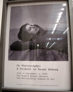 taking a picture of a picture/of sontag: Susan NYC
