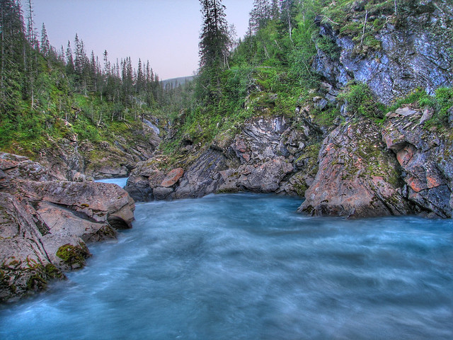 """HDR Glacier Water at Marmorslottet  """"The Marble Castle"""""""