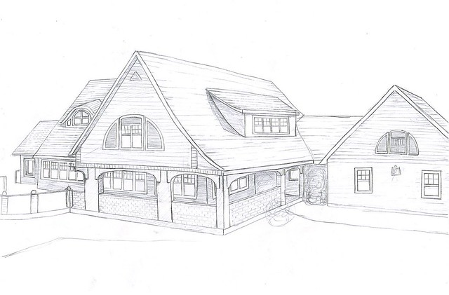 My house drawing front side flickr photo sharing for My dream house drawing