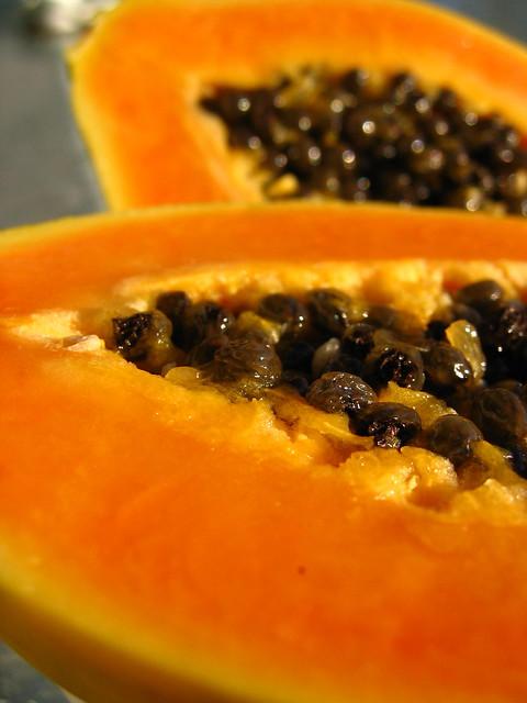 La papaye.