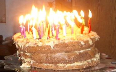 Flaming Birthday Cake Shot