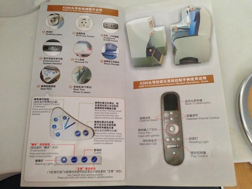 Seat operation manual