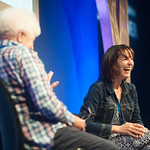 Zoe Williams chats to Chair Ruth Wishart | Zoe Williams talks to Ruth Wishart at the Edinburgh International Book Festival © Alan McCredie