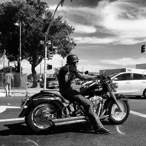 Hello motorcyclist #twitter #bw #richmondca #vscocam