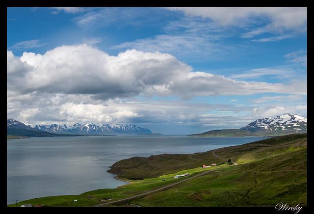 Parte más lejana del fiordo Eyjafjördur