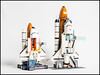 LEGO Shuttle Expedition and City Spaceport Comparison