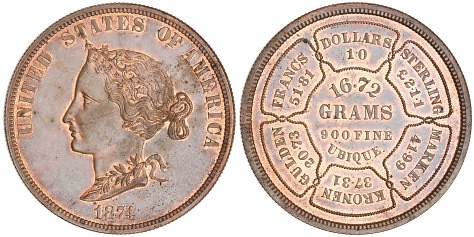 Bickford pattern coin