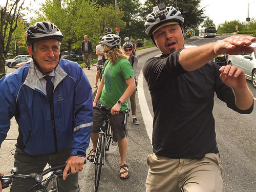 Mayor Hales' first bike commute-13.jpg