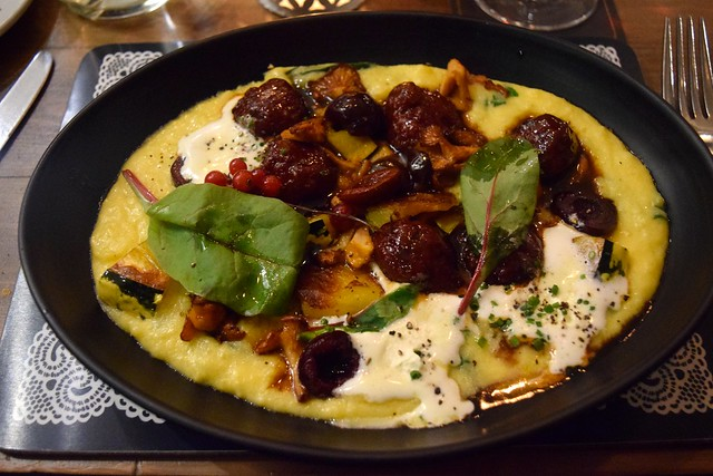 Polenta and Roe Deer Meatballs at The Scran and Scallie, Edinburgh | www.rachelphipps.com @rachelphipps