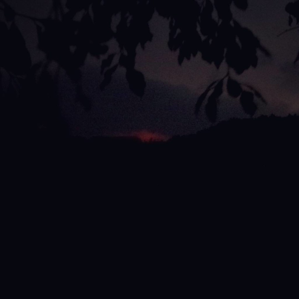 Whilst hiking down the Pacaya volcano in Guatemala in the pitch black darkness, our guide pointed out the red glow in the clouds directly above the crater. We got a brief glimpse of what lies inside this active volcano which is soon due another eruption.