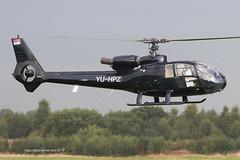 YU-HPZ - 1978 build Aerospatiale SA342J Gazelle, inbound to the Jet A1 pumps at Barton