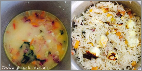 Paneer Pulao for baby & toddlers -step 5