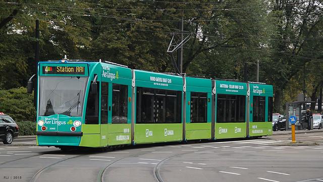 GVB - Siemens Combino (13G/C1), 2092 (Aer Lingus), tram 4, Frederiksplein (Amsterdam)