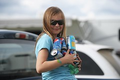 Kids collect recyclables in Tofield, Alberta